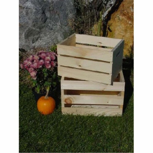 All Maine Bucket C5 Large Pine Crate Perspective: front