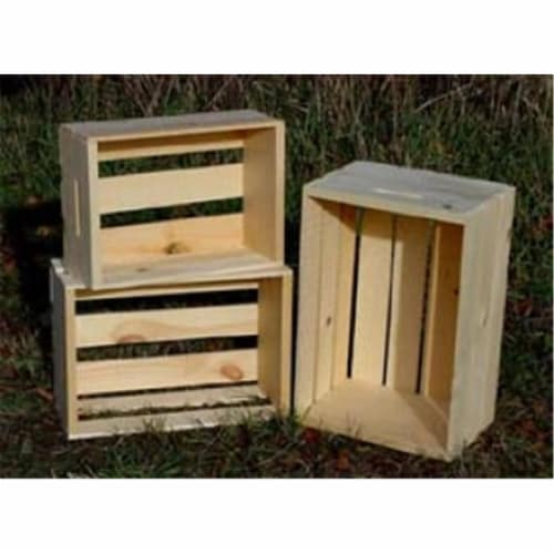 All Maine Bucket C10 Set of 3 Nested crates Perspective: front