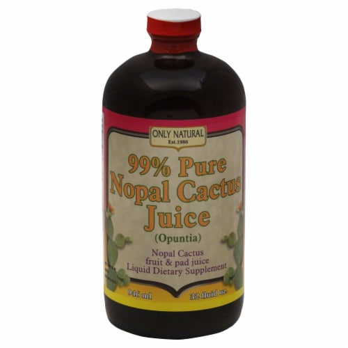 Only Natural 99% Pure Nopal Cactus Juice Dietary Supplement Perspective: front