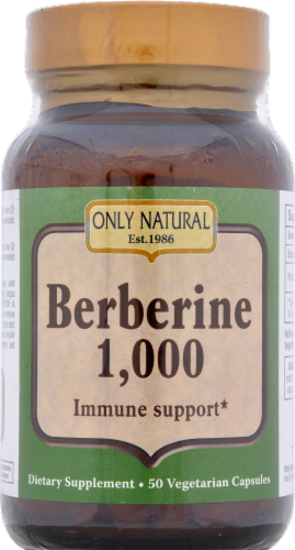 Only Natural Berberine 1000 mg Immune Support Perspective: front