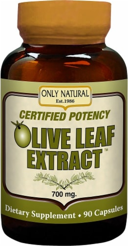 Only Natural  Olive Leaf Extract Perspective: front