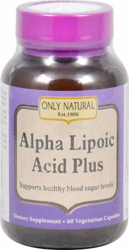 Only Natural Alpha Lipoic Acid Plus Dietary Supplement Vegetarian Capsules Perspective: front