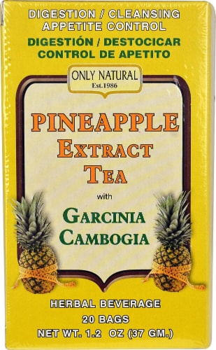 Only Natural  Pineapple Extract Tea with Garcinia Cambogia Perspective: front