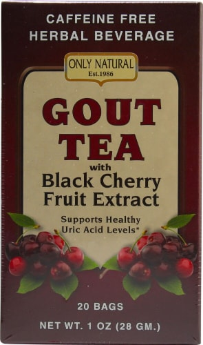 Only Natural Gout Tea with Black Cherry Fruit Extract Perspective: front