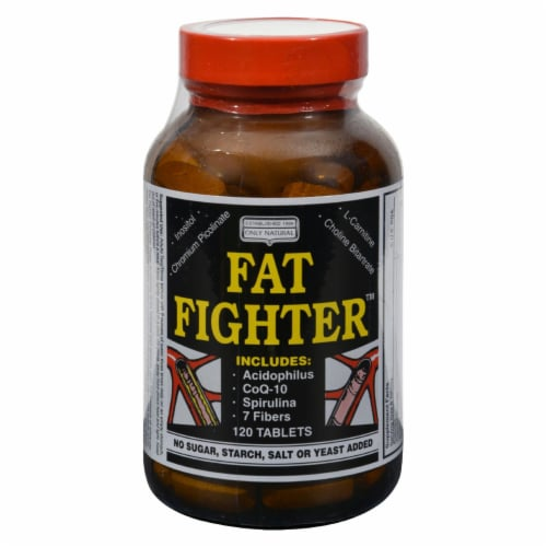 Only Natural Fat Fighter - 120 Tablets Perspective: front