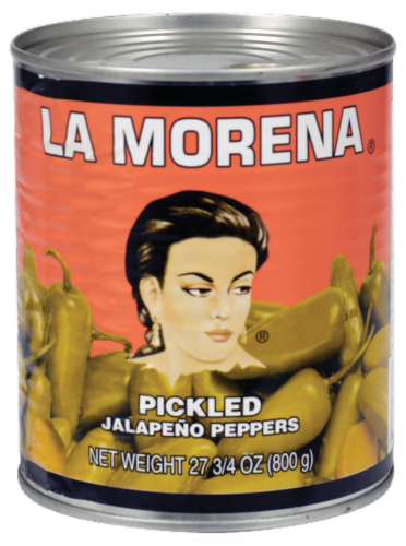 La Morena Pickled Whole Jalapeno Peppers Perspective: front