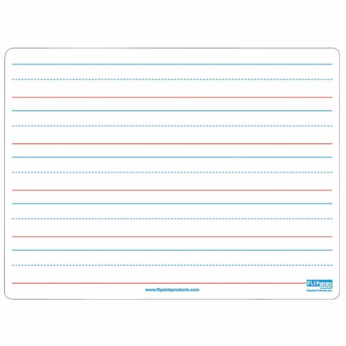 Two-Sided Magnetic Dry Erase Board, Plain/Ruled, 9  x 12 Perspective: front