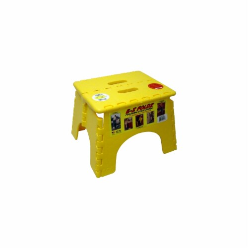 E-Z Folds Step Stool - Yellow Perspective: front