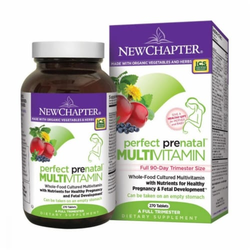 New Chapter  Perfect Prenatal® Multi-Vitamin Perspective: front