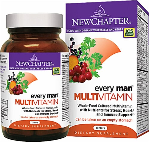 New Chapter  Every Man™ Whole Food Multivitamin Perspective: front