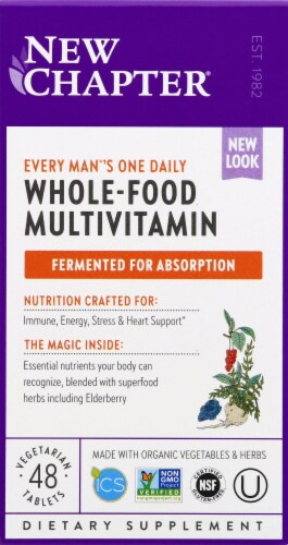 New Chapter Organics Every Man's One Daily Whole-Food Multivitamin Perspective: front