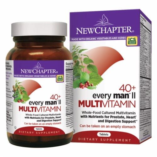 New Chapter  Every Man's® II 40 Plus Multivitamin Perspective: front