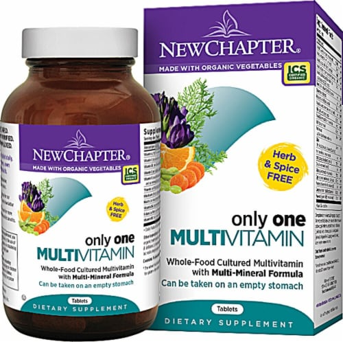 New Chapter Only One Multivitamin Tablets Perspective: front