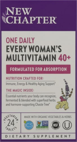 New Chapter 40 Plus Every Woman's One Daily Multivitamin Perspective: front