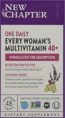 New Chapter Organics Every Woman One Daily 40-Plus Tablets Perspective: front