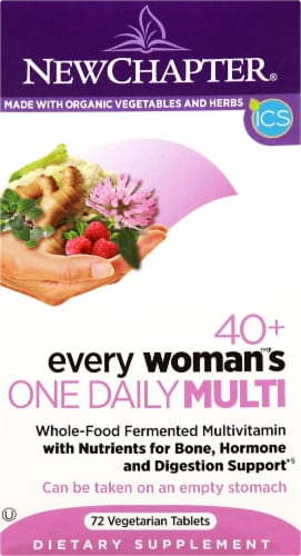New Chapter Every Woman's One Daily 40 Plus Multivitamin Tablets Perspective: front