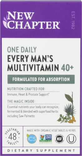New Chapter Organics Every Man's One Daily Vitamin Perspective: front