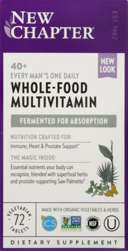 New Chapter  Every Man's One Daily 40 Plus Multivitamin Perspective: front