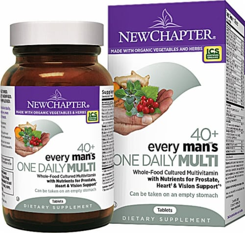 New Chapter  Every Man™'s One Daily Multivitamin 40+ Perspective: front