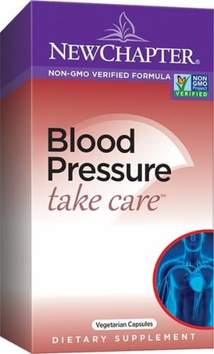 New Chapter Blood Pressure Take Care Vegetarian Capsules Perspective: front