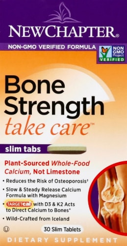 New Chapter Bone Strength Take Care Slim Tablets Perspective: front
