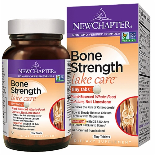 New Chapter Bone Strength Take Care™ Tiny Tabs™ Perspective: front