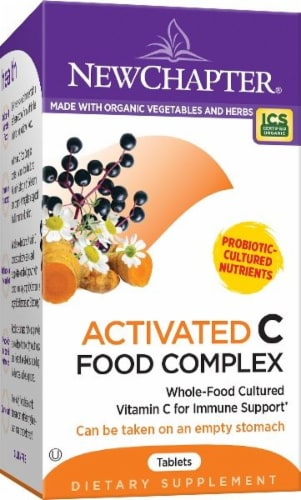New Chapter Activated C Food Complex Supplement Tablets 60 Count Perspective: front