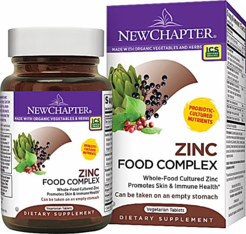 New Chapter  Zinc Food Complex Perspective: front