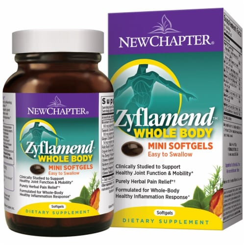 New Chapter  Zyflamend® Whole Body Mini Softgels Perspective: front