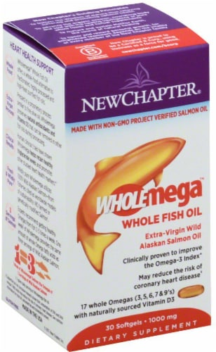 New Chapter Wholemega Whole Fish Oil Perspective: front