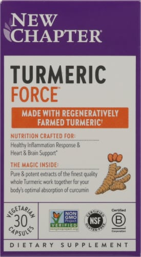 New Chapter Organics Turmeric Force Vegetarian Capsules Perspective: front