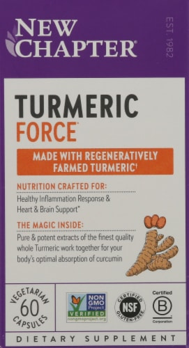 New Chapter Turmeric Force Capsules Perspective: front