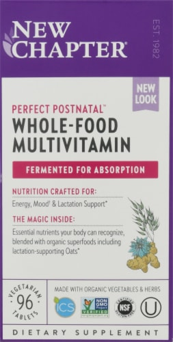 New Chapter Perfect Postnatal Multivitamin Tablets Perspective: front
