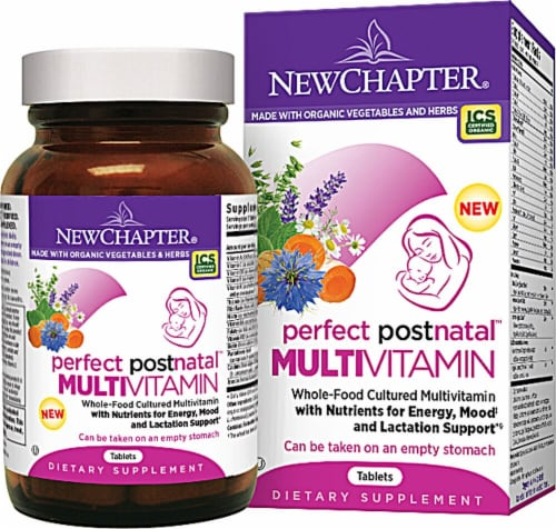 New Chapter  Perfect Postnatal™ Multivitamin Perspective: front