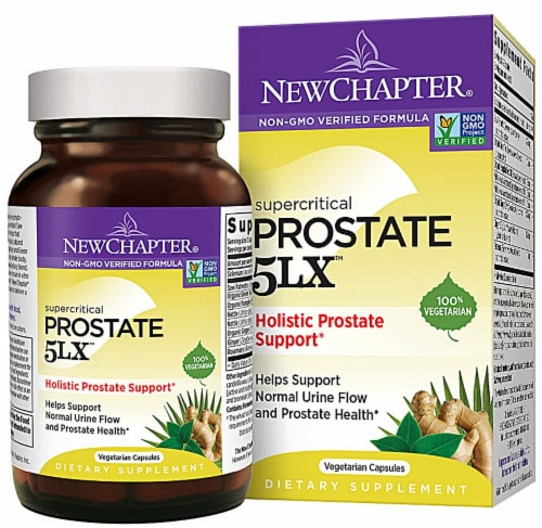 New Chapter Supercritical Prostate 5LX Diteary Supplement Vegetarian Capsules Perspective: front