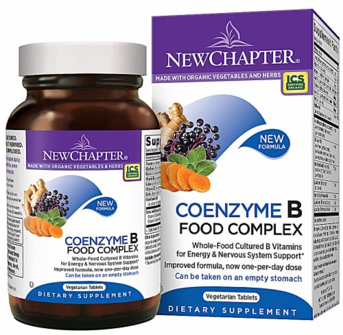 New Chapter CoEnzyme B Food Complex Supplement Vegetarian Capsules Perspective: front