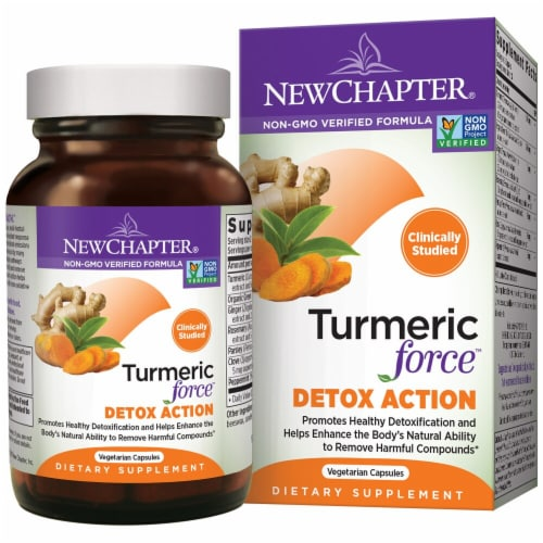 New Chapter Turmeric Force™ Detox Action Perspective: front