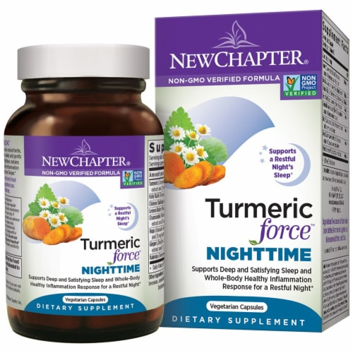 New Chapter  Turmeric Force™ Nighttime Perspective: front