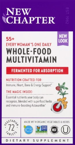New Chapter Every Woman's One Daily 55 plus Whole Food Multivitamins Perspective: front