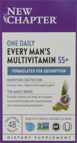 New Chapter Every Man's 55 Plus One Daily Multi Vitamin Tablets Perspective: front