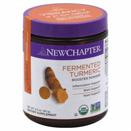 New Chapter Fermented Turmeric Booster Powder Perspective: front