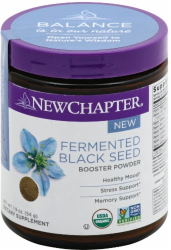 New Chapter® Fermented Black Seed Powder Dietary Supplement Perspective: front