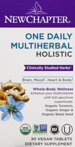 New Chapter Holistic One Daily Moultiherbal Tablets 30 Count Perspective: front