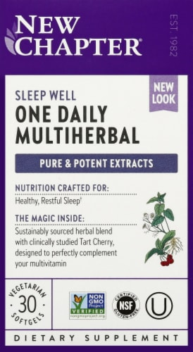 New Chapter One Daily Multiherbal Sleep Well Softgels 30 Count Perspective: front