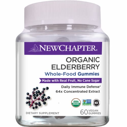 New Chapter Organic Elderberry Whole Food Gummies Perspective: front