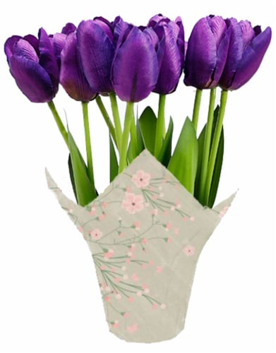 Andy Mast Greenhouses Purple Tulips (Approximate Delivery is 2-7 Days) Perspective: front
