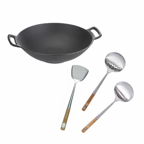 TableCraft Cast Iron Wok Kit Perspective: front