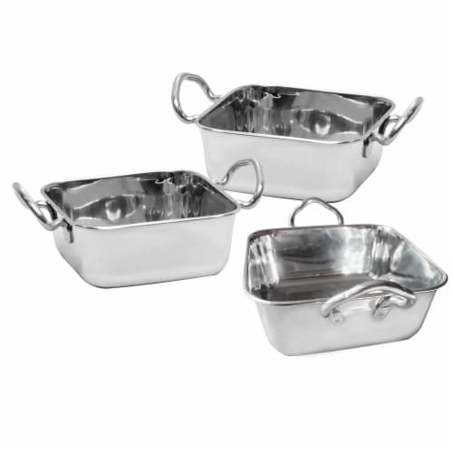 TableCraft Stainless Steel Mini Roast Pan with Handles Perspective: front