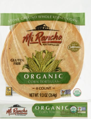 Mi Rancho Organic Hand Crafted Corn Tortillas 8 Count Perspective: front