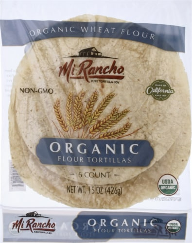 Mi Rancho Organic Wheat Flour Tortillas Perspective: front